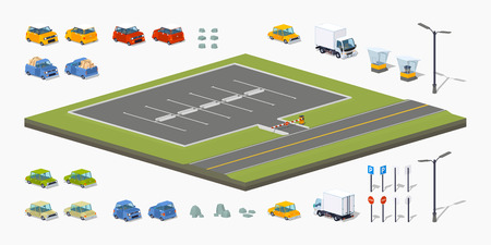 sign road: Parking lot constructor. Build your own design