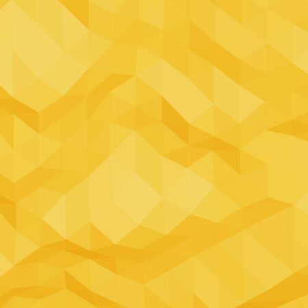 rumpled: Yellow abstract geometric rumpled triangular low poly style vector background Illustration