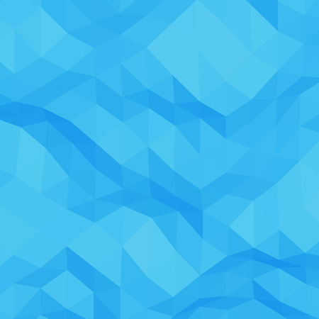 rumpled: Blue abstract geometric rumpled triangular low poly style vector background Illustration