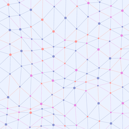 asymmetrical: Abstract vector colored background with asymmetrical connected dots