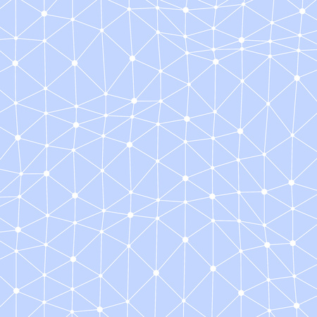 asymmetrical: Abstract vector background with asymmetrical connected dots Illustration