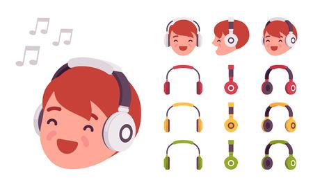 Boy in headphones Illustration