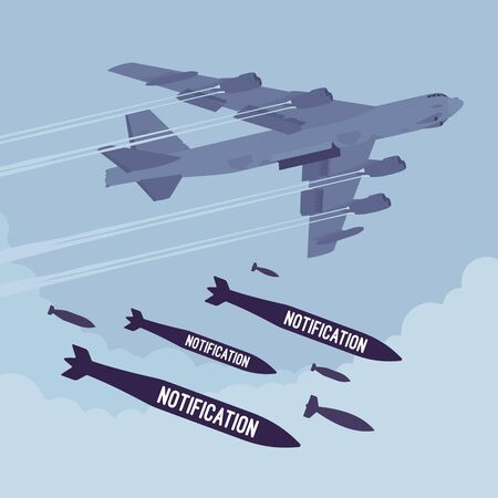 bomber: Bomber and Notification bombing Stock Photo