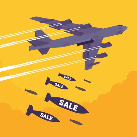 bomber: Bomber and Sale bombing Stock Photo