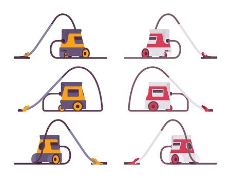 Set of portable vacuum cleaner