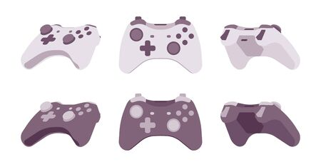 advantages: Gamepad set in black and white colors