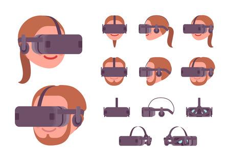 VR headset black helmet