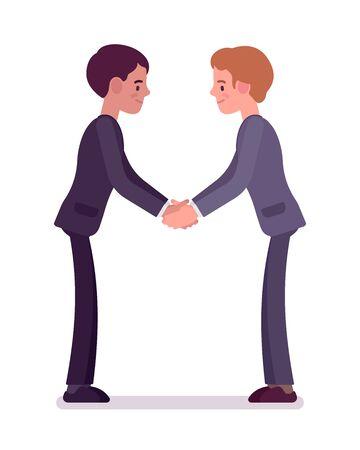 Business partners handshaking with both hands Lizenzfreie Bilder