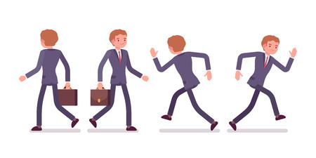 Set van jonge zakenman in formele slijtage