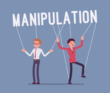 String manipulation puppet people. Illustration
