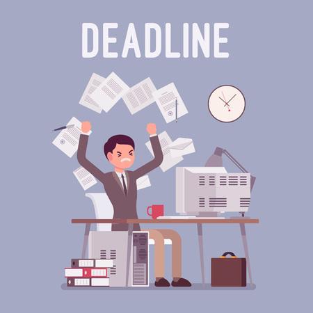 Deadline in paper work.