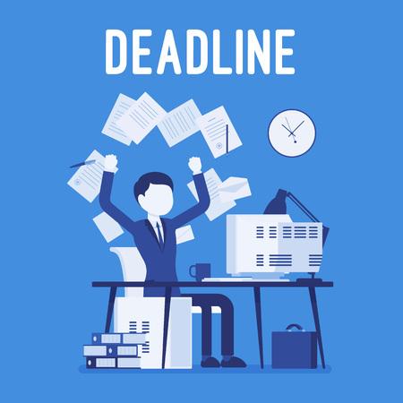 Deadline in paper work Vektoros illusztráció
