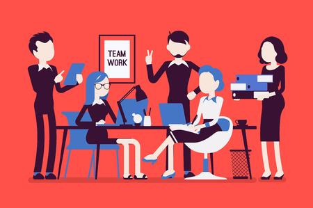 Team work in office Ilustração