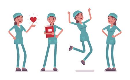 Female nurse in positive emotions