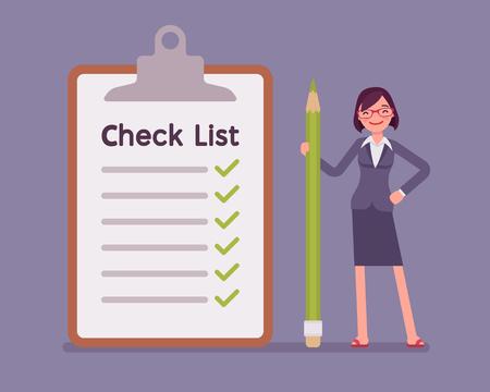 Giant check list Çizim