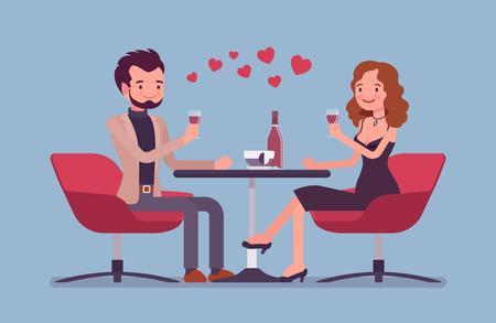 Casal em um encontro romântico