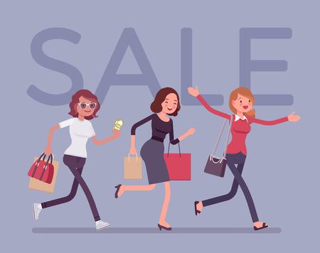 Sale season in the store Vector illustration. Illustration