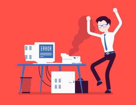 Error de impresora de oficina