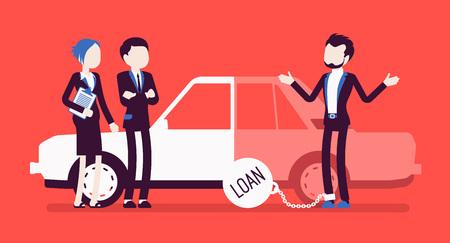 Overdue car loan concept