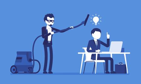 Voler des idées brillantes aux entreprises