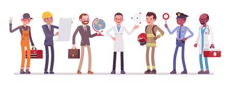 Men professions set.  イラスト・ベクター素材
