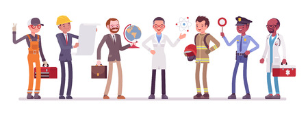Men professions set. Illustration
