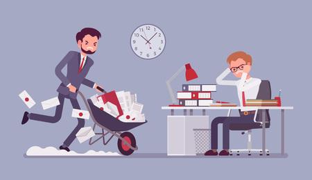 Exceso de trabajo en la oficina
