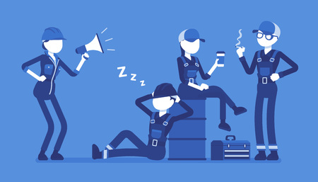 Lazy workers resting Stock Vector - 96846681