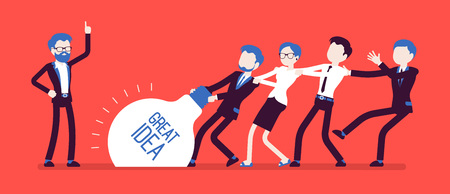 Team uprising great idea Illustration