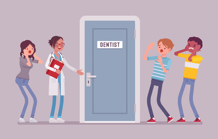 Panic at dentist door