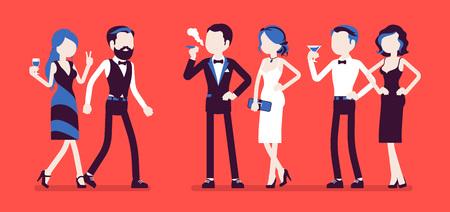 High society party Stock Illustratie