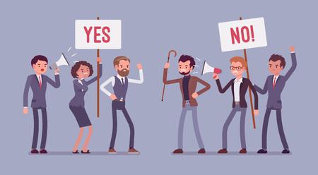 Pros and cons meeting Ilustração