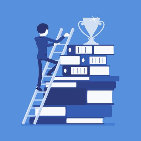 Ladder to success 矢量图像