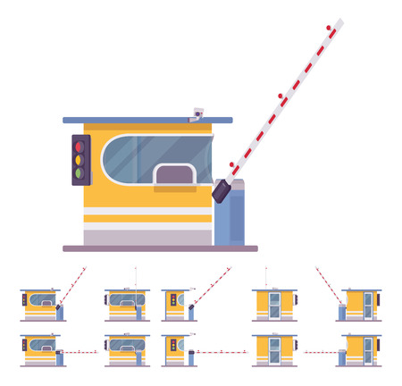 Toll booth with barrier Illustration