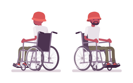 Male black young wheelchair user