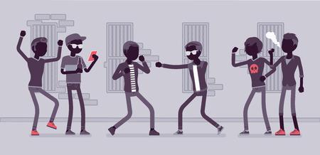 Street fight boys Illustration