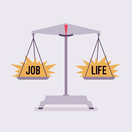 Scales with job and life good balance Illustration