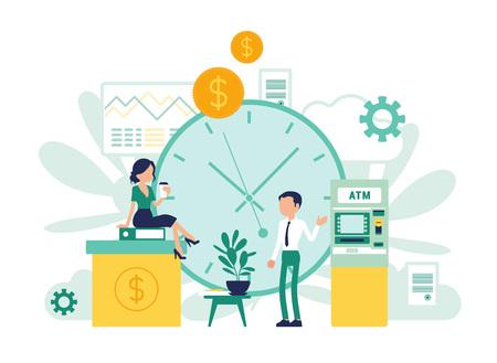 Diseño de actividades de negocios bancarios e instituciones financieras