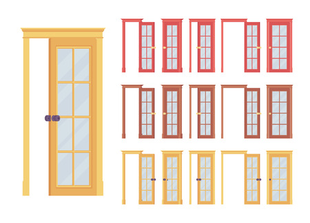 3ebbbadedf75 Doors classic set with glass panel