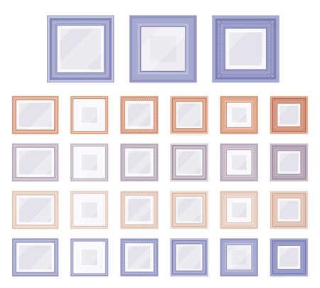 Picture and photo square frame light set for home, office Ilustração