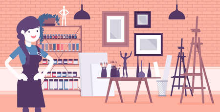 Small scale business-owner, privately owned art store