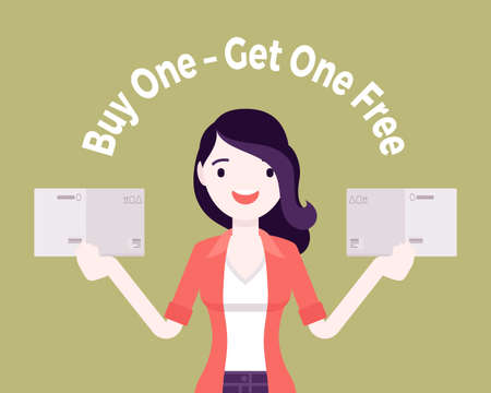 Buy one, get one free, internet shop sale promotion