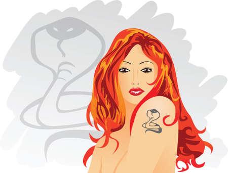 cobra: chica tatuaje