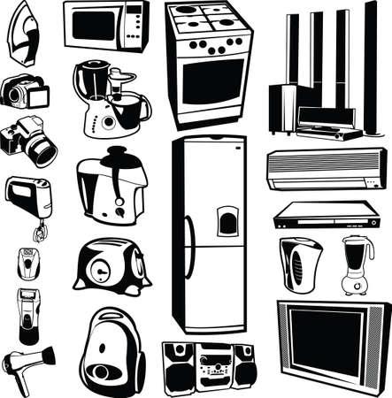 home appliances: electrodom�sticos  Vectores