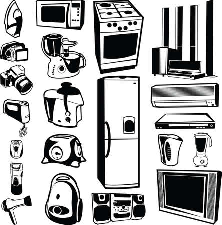 stoves: home appliances Illustration