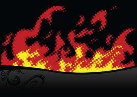 halftone fire Stock Vector - 2751129