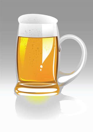 spume: vector beer mug