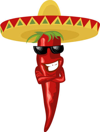 mexican: mexican hot chili Illustration