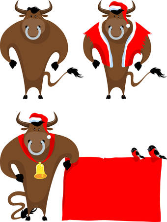 bull rings: cartoon bull