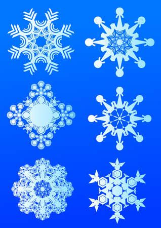 beauty snowflakes Vector